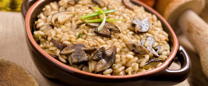 Ryż Brązowy zapiekany z leśnymi grzybami
