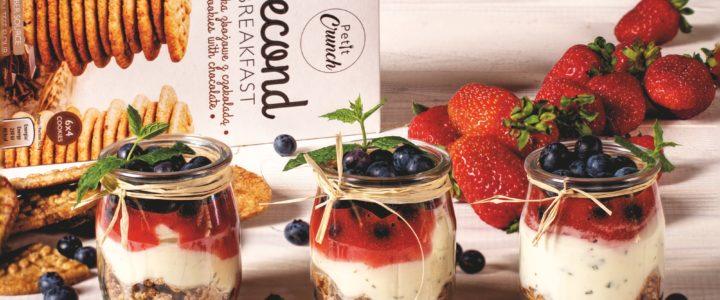 Orzeźwiający deser z mascarpone i ciasteczkami Petit Crunch