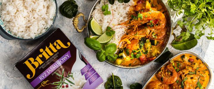 Curry z krewetkami i ryżem jaśminowym Britta