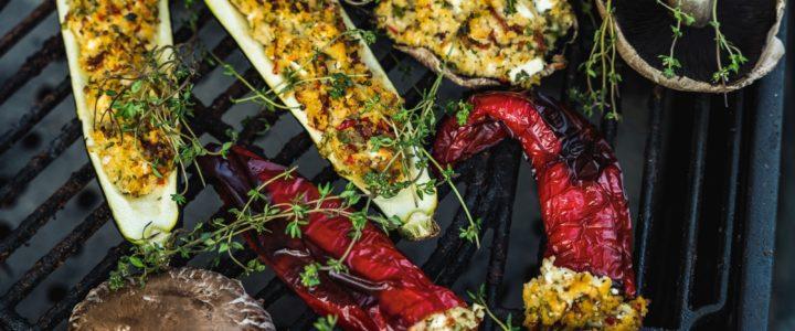 Grillowane warzywa nadziewane kaszą jaglaną Halina BIO