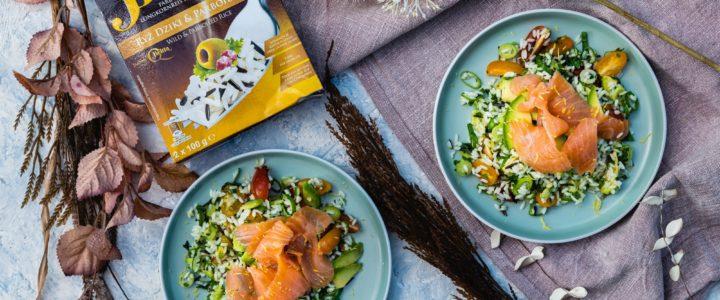 Sałatka z ryżem dzikim&parboiled Britta i łososiem